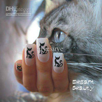 Decal beauty tips models - new arrival designs Nail Art beauty French seal tip hollow out model tattoo nail sticker