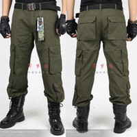 Wholesale U S military outdoor army fan pants pocket cotton casual pants mountaineering pants overalls genuin