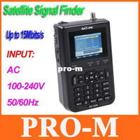 Wholesale SATlink WS quot DVB S FTA Data Digital Satellite Signal Finder Meter freeshipping dropshipping