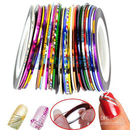 Wholesale Promotions Mixed Colors Rolls Striping Tape Line Nail Art Decoration Sticker