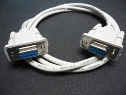 Wholesale 1 M Female to Female SERIAL DB9 PIN RS Data CABLE