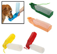 Wholesale 250ml ml Foldable Pet Dog Cat Water Drink Bottle Dispenser Feeder Travel Bowl
