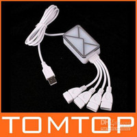 Wholesale 4 Port HUB USB Webmail Email Reminder Receiver Notifier for PC Laptop Free Shippping C805