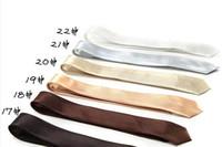 Wholesale Handmade Solid Color Rayon Men s Skinny Ties Silk Necktie