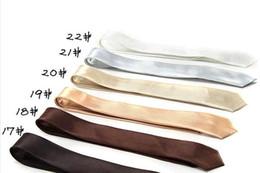 Handmade Solid Color Rayon Men's Skinny Ties Silk Necktie