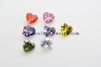 Wholesale 6mm heart months birthstone for glass floating locket pendant floating charms no locket