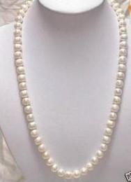 11-12mm Akoya White Baroque Pearl Necklace 24 Inch 14k Gold Clasp
