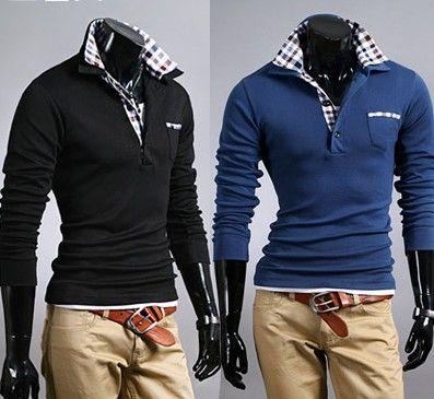 2013 Korean Fashion Men's Clothing Clothes Fashion Men Slim V-neck best mens online clothing