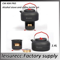Cookware camping stove - Outdoor Aluminum Alcohol Stove Coffee Kettle Set Food Grade Silicone Copper Portability Fashion Set