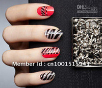 Wholesale New Sheets D stereoscopic Crystal convenient nail polish diamond stickers nail metal de