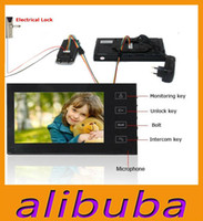 Wholesale 7 Inch TFT Touch Screen Color Video Door Phone Cmos Night Version Camera Intercom system Door Bell Rings