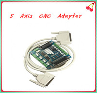 Wholesale 5 Axis CNC Breakout Board Interface Adapter FOR Stepper Motor Driver DB25 Cable