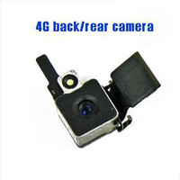 Wholesale Back Rear Camera Replacement With Flash Flex Cable Cam Lens for iphone G IP4