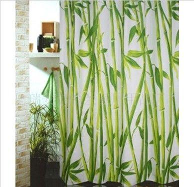 2017 Bamboo Forest Shower Curtain 180x180cm Waterproof Bathroom ...