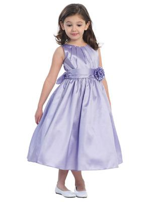 Flower Girl Dress Patterns Jewel Collar A-Line Flower Taffeta Grey ...