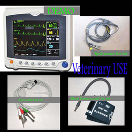 Wholesale 8 inch Veterinary Patient Monitor Parameter Vet ICU ECG PR BP Multi Parameters