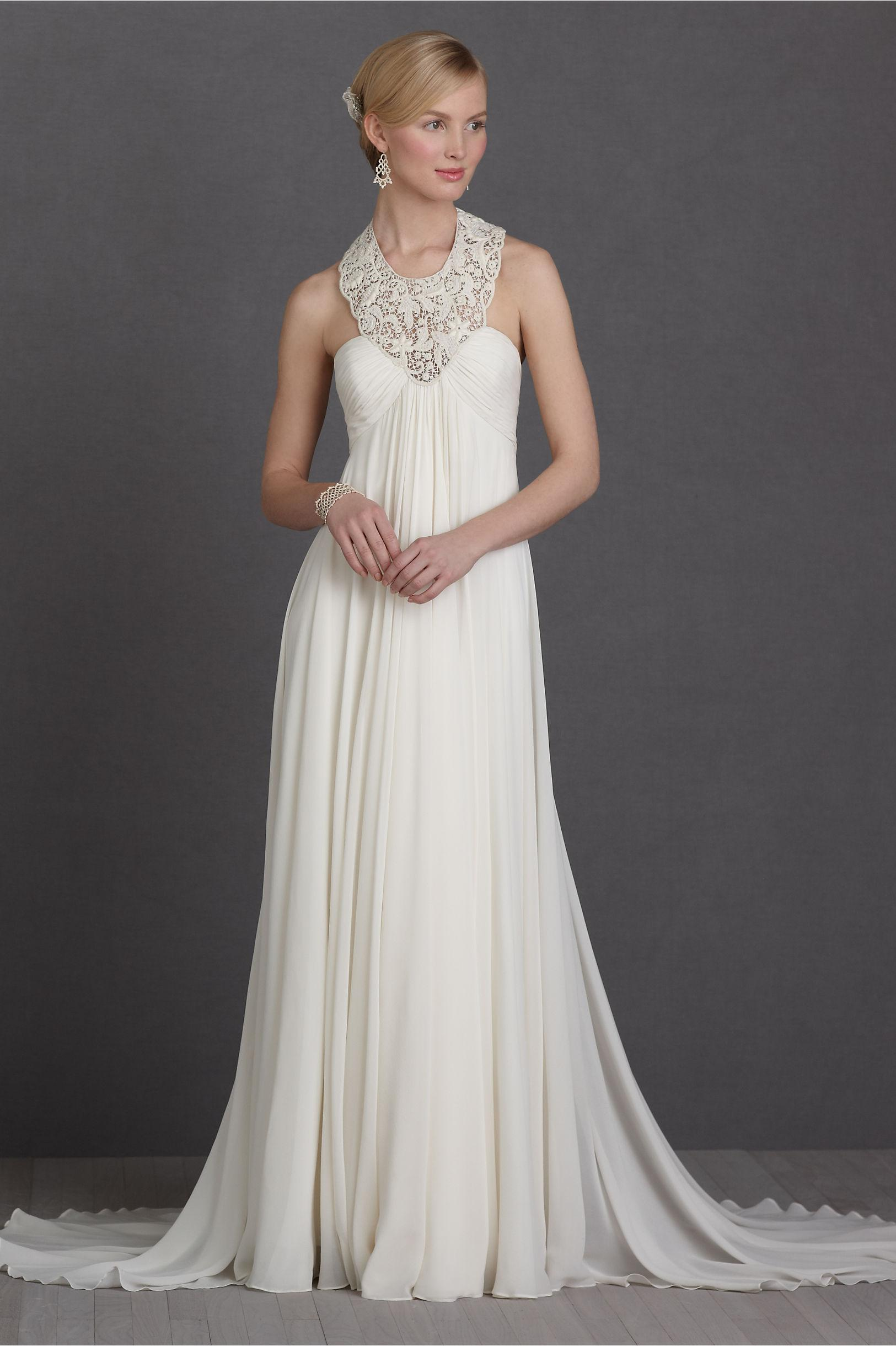 Discount high quality a line halter chapel train chiffon for Wedding dresses for under 300