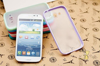 Wholesale Skin Galaxy Duos - Plastic PC TPU frame bumper dual color hard case for Samsung galaxy grand duos I9082 i9080 skin