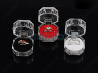 Jewelry Boxes Ring Plastic Rings Box Jewelry Clear Acrylic Cheap Jewelry Boxes Sale Wedding Gift Box Ring Stud Dust Plug Box [DSX07(60)]
