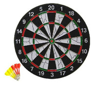 Wholesale CLASSIC bristle dart board Kit With Brass Darts quot Fun Sports Games