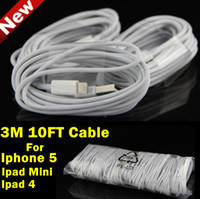 Wholesale 8 pin USB Charger Cable For Iphone M FT Long Sync Charging Adapter Cord For Iphone5 Ipad mini