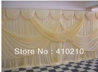 Wholesale 3m m wedding backdrop ivory color Background wedding decorations curtains