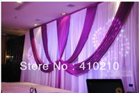 Wholesale Best Quality m m wedding backdrop curtains party background white amp blue color