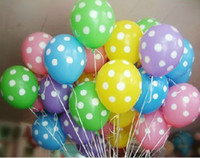 Wholesale 12 quot polka dots balloons wedding favor brithday decor party latex balloon HKpost mix color
