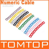 Wholesale 100sets set RJ45 RJ11 RJ12 Color Numeric Cable Label Mark C730