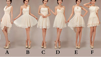 Wholesale Custom Made Styles New Cheap Elegant Special Halter Knee Length Bridesmaid Dresses Wedding Party Dresses