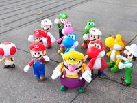mario figures - EMS Super Mario Bros Figures Mario Luiji Wario Yoshi Mushroom Figure Toys Dolls set style