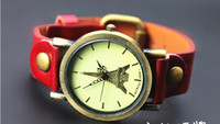 Wholesale 2013 PU Leather Eiffel Tower Quartz Unisex Watch colors