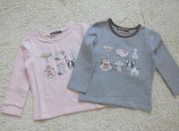 Wholesale 2013 Monnalisa Kids Spring Cartoon Printed Long Sleeve Shirts Children Casual T shirt