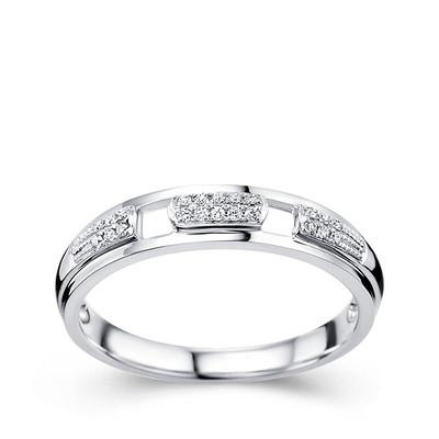 2017 18k white solid gold real diamond engagement wedding rings for women round cut certifeied g h si good cheap factory wholesale price xtr1004 from ztliu - Cheap Real Diamond Wedding Rings