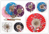 chinese dance fans - Chinese Japanese Folding Hand Silk dance Bamboo Fan DIY Hot New art crafts fans