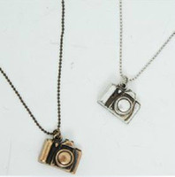 Wholesale Vintage camera Necklace unique pendant gold silver chain New charm Gift cheap fashion jewelry
