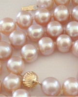 pink jewelry - New Fine pearl jewelry mm natural Australian south sea pink purple pearl necklace inches