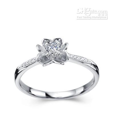 see larger image - White Gold Wedding Rings For Women