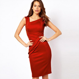 Wholesale 2013 New Fashion Celebrity Red Short Sleeve dress Office Ladies Cocktail skirts Women Casual item