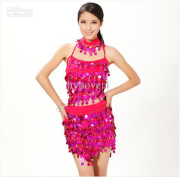 Wholesale Latin dance dress clothing new women wear costumes practice top skirt dress set