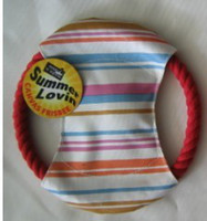 Wholesale New style pet toys dog cotton frisbee oxford fabric with cotton rope BB squeaker