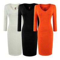 Wholesale Office Ladies Work dress Women Slim New skirts XXS XS S M L XL XXL Black White Orange Cocktail dress