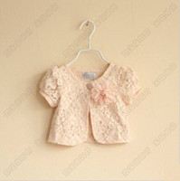 baby girl kids lace shawl lace wape floral flower hollow cro...