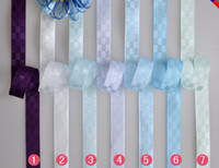 Wholesale 2013 quot mm color blue purple series yards roll children Hair Bow DIY satin ribbons