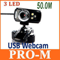 Wholesale USB M LED PC Camera HD Webcam Camera Web Cam with MIC for Computer PC Laptop Drop Shipping