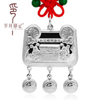 Beaded Necklaces   99 fine silver treasure chests baby child longevity lock pure silver pendants silver pendant