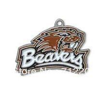 Wholesale a enamel antique silver single sided Oregon State Beavers charms