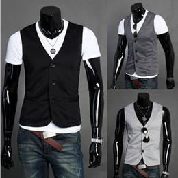 Wholesale Korean Fashion Formal Mens Fashion Casual Slim Fit Dress Vest Waist Coat