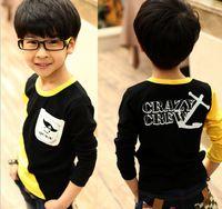 Small Children's Day Boy 2013 spring children's clothing, boys Bala rabbit pocket child t-shirt boy Korean t-shirt