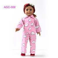 Wholesale Doll Clothes Pajamas for American Girl doll girl birthday gift AGC